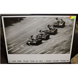 FRAMED 1989 TANK PICTURE