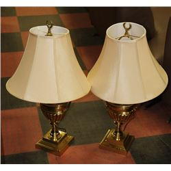 PAIR OF ESTATE BRASS LAMPS