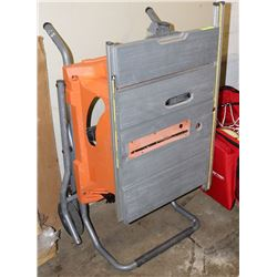 """RIDGID 15A  10"""" PORTABLE  TABLE SAW  ROLLING STAND"""