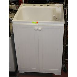 LAUNDRY SINK WITH CABINET, 25X22.5X35