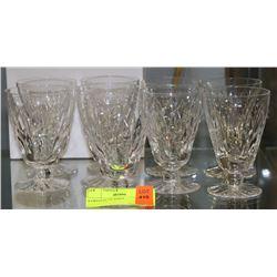 9 CRYSTAL GLASSES