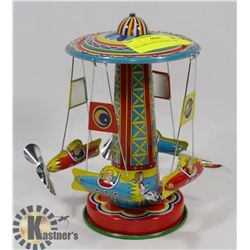 TIN AIRPLANE CAROUSEL TOY