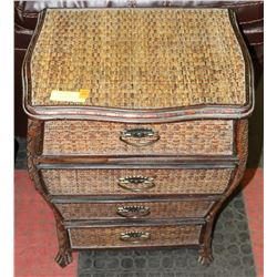 SMALL 4 DRAWER WICKER CHEST