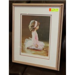 "FRAMED NUMBERED PRINT ""LITTLE BALLERINA"""