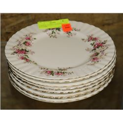 "10 ROYAL ALBERT LAVENDER ROSE 8"" PLATES"