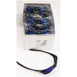 BOX OF OAKLEY STYLE  BLACK SUNGLASSES WITH