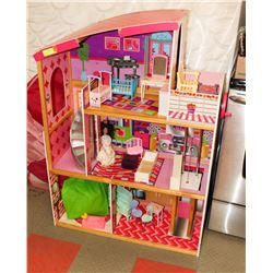 KID KRAFT DOLL HOUSE 4 FEET TALL WITH FURNITURE