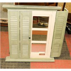 WALL DISPLAY MIRROR WITH SHUTTERS