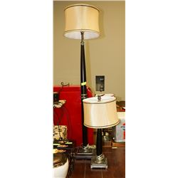 2 PC MATCHING LAMP SET, 1 FLOOR, 1 TABLE