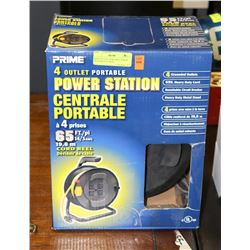 NEW 4 OUTLET PORTABLE POWER STATION 65 FT WITH