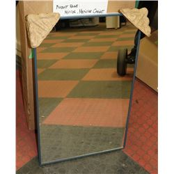 STAINLESS STEEL VANITY CABINET W/ MIRROR & GLASS