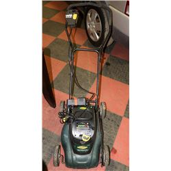 YARDWORKS 24 VOLT LAWNMOWER WITH GOOD BATTERY AND