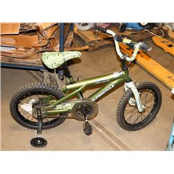SUPERCYCLE CAMO KIDS BIKE WITH TRAINING WHEELS