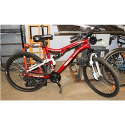 MEN'S CCM 21 SPEED BIKE, DUAL SUSPENSION