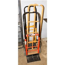 LOT OF 3 TWO WHEEL DOLLY