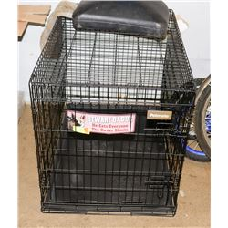 "LARGE COLLAPSIBLE DOG CRATE 24"" X 36"""