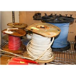 LOT OF WIRE SPOOLS, VARIOUS SIZES