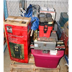 PALLET OF UNCLAIMED STORAGE ITEMS
