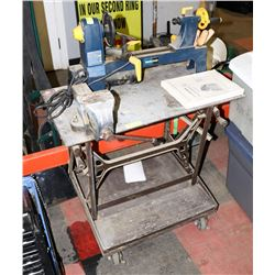 MASTERCRAFT LATHE WITH HEAVY METAL STAND AND VISE