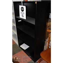 "NEW BLACK METAL OFFICE SHELF, 34.5""X12.5""X59.5"""