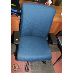 NEW BLUE HYDRAULIC LIFT OFFICE CHAIR