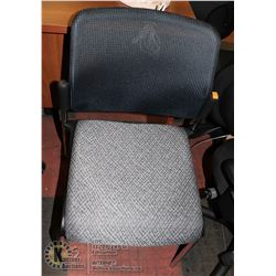 NEW BLK/GREY MESHBACK WAITING ROOM CHAIR