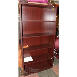 "NEW WOOD TONE BOOKSHELF 36""X13""X70.5"""