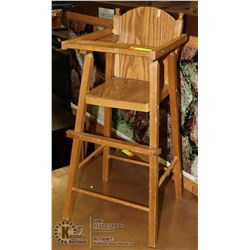 VINTAGE WOOD TONE DOLL HIGHCHAIR