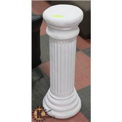 "WHITE CERAMIC PEDESTAL - 30"" TALL. HOME DÉCOR"
