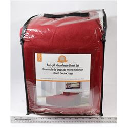 ANTI PILL MICROFLEECE BURGUNDY  KING SIZE SHEET