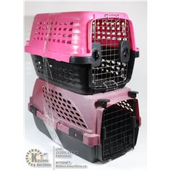 2 SMALL PET CARRIERS (CRATES)