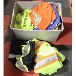 BOX OF SAFETY CLOTHING