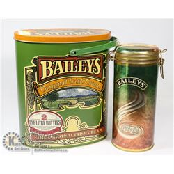 PAIR OF COLLECTOR BAILEYS TINS