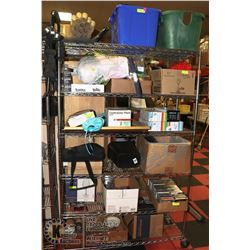 METRO RACK OF ASSORTED HOUSEHOLD MISC INCL
