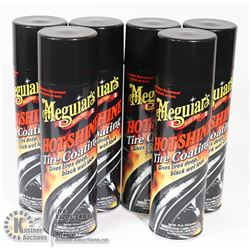 CASE OF MEGUIRES HOT SHINE TIRE COATING