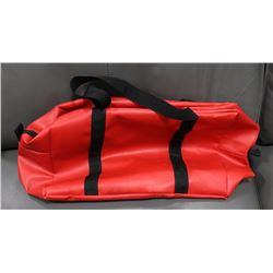 JEF WATER PROOF BAG - RED WITH BLACK