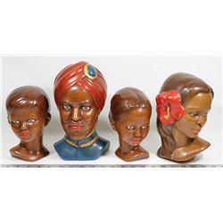4 CERAMIC HEADS