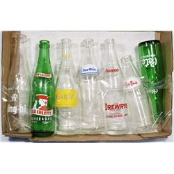 VINTAGE SODA POP BOTTLE COLLECTION.