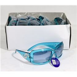 BOX OF ICE BLUE DESIGNER SUNGLASSES