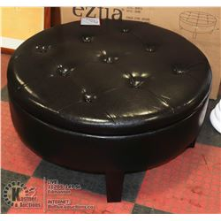 NEW DARK BROWN LEATHERETTE BENCH/OTTOMAN