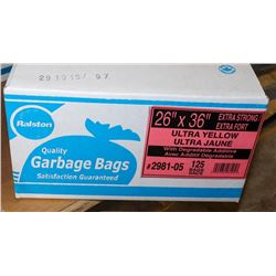 "CASE OF 26""X36"" YELLOW GARBAGE BAGS"