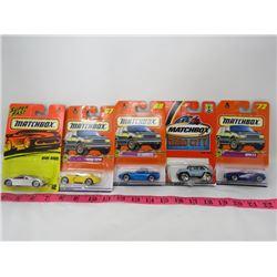 LOT OF 5 MATCHBOX TOYS (AUDI AVUS, VIPER, BMW, ETC...)