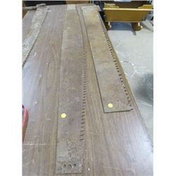 """LOT OF 2 SAW BLADES WITHOUT HANDLES (66"""" X 6"""", 54"""" X 5"""")"""