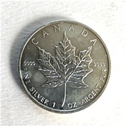 1 Ounce Canadian Maple Leaf 5 Dollar Silver Coin 9999 Pure Silver
