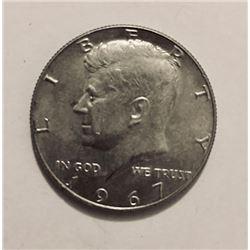 10 John F. Kennedy POST 1964 Half Dollar 40% Silver 10 Coins
