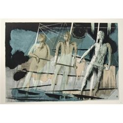 [Literature - Melville - Art] Boxed Portfolio of 26 Folio Size Color Lithographs by Benton Spruance,