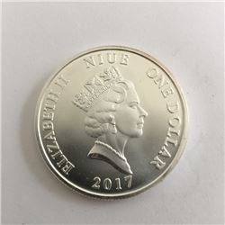 The Guardian 2017 Bullion One Ounce Silver Bullion Round.