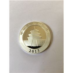 2013 Chinese Silver Panda  Bullion Coin 9999 Silver
