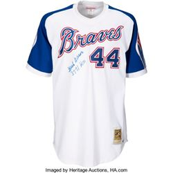 Hank Aaron Atlanta Brave Signed Jersey 3771 Hits PSA/DNA Authenticated