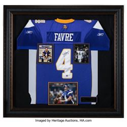 Brett Favre Signed Minnesota Vikings Jersey Framed Authenticated PSA/DNA